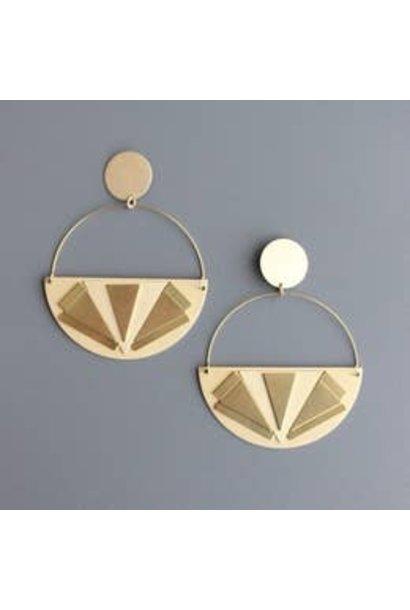 Earrings   Art Deco Hoops