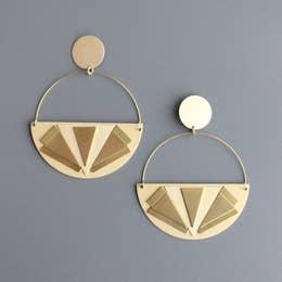Earrings   Art Deco Hoops-1