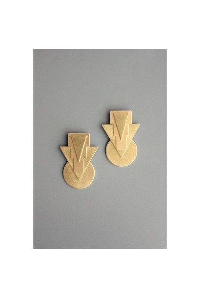 Earrings | Brass Arrows & Circles