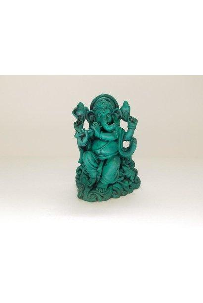 Resin Statue | Green Ganesh