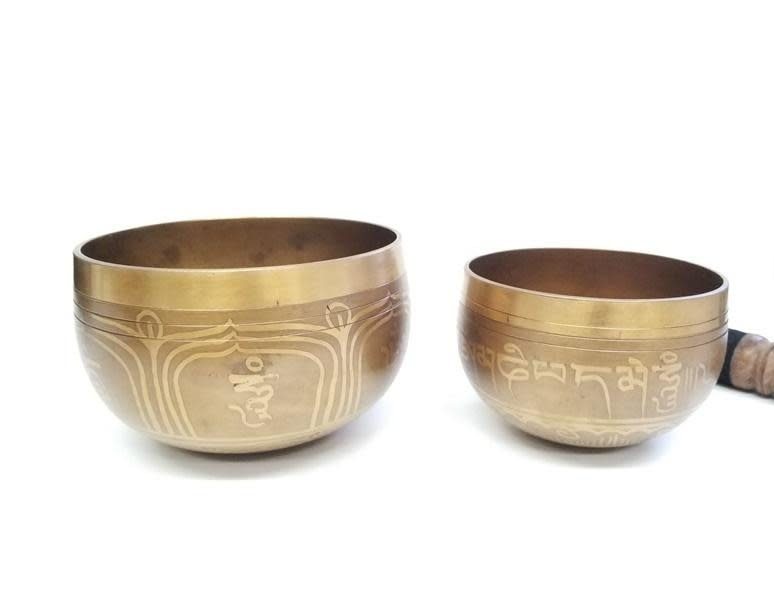 Singing Bowl   Gold Mantra Design on Inside   Extra Small-2
