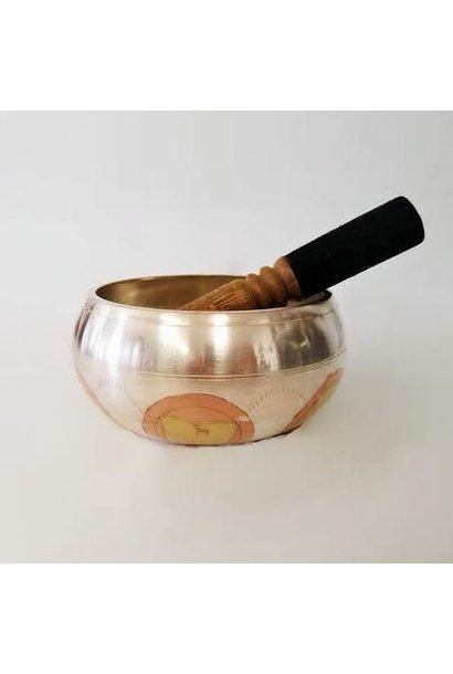 Singing Bowl | Hand Carved Om Mane Padme | Large