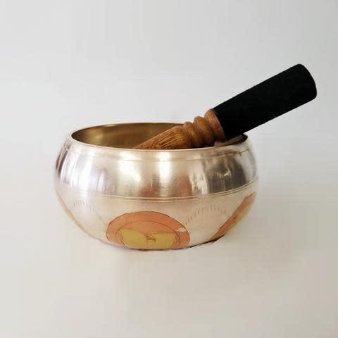 Singing Bowl | Hand Carved Om Mane Padme | Large-1