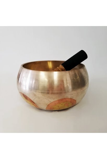 Singing Bowl | Hand Carved Om Mane Padme | Extra Large