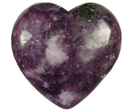 Crystal Heart   Lepidolite-1