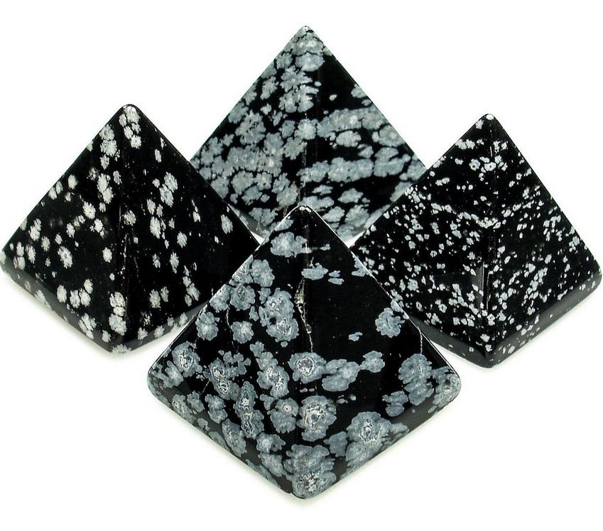 Crystal Pyramid   Snowflake Obsidian-1