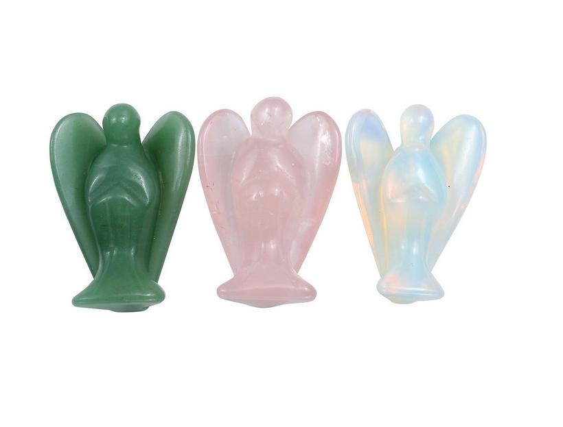 Crystal Angel Figurine   Assorted Crystals-1