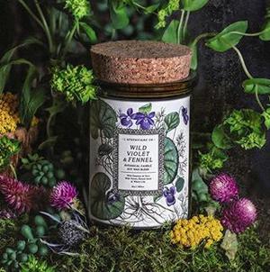 Botanica Candle | Wild Violet & Fennel-1