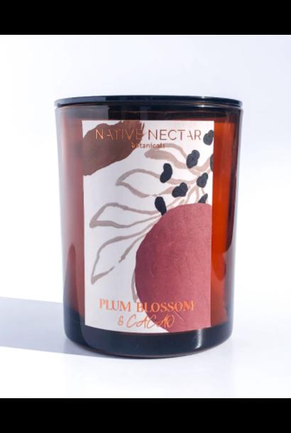Plum Blossom & Cacao   Hand Poured Candle