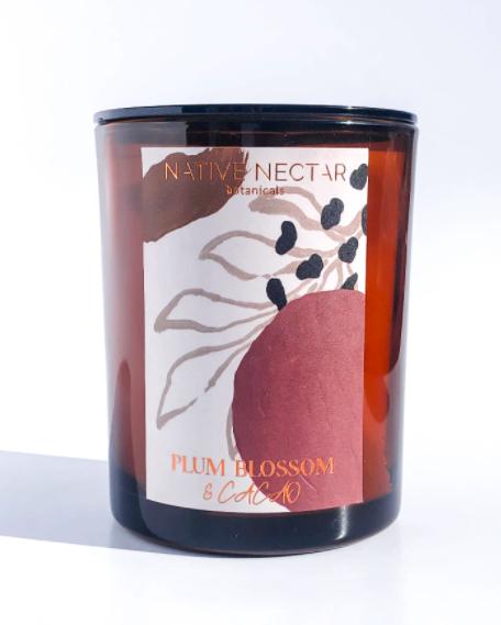 Plum Blossom & Cacao   Hand Poured Candle-1