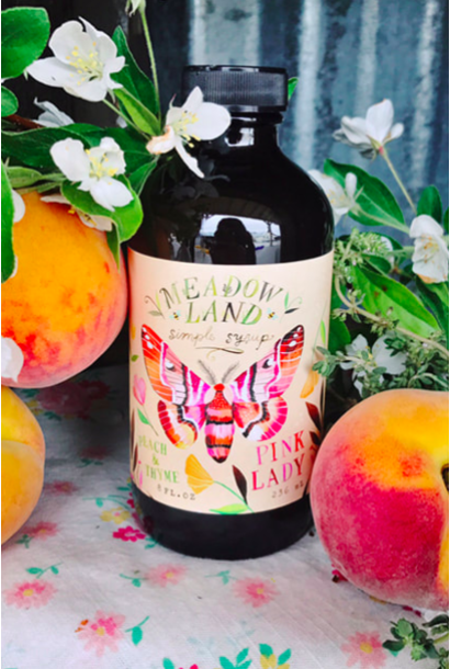 Pink Lady | Peach & Thyme Syrup