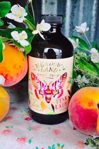 Pink Lady | Peach & Thyme Syrup-1