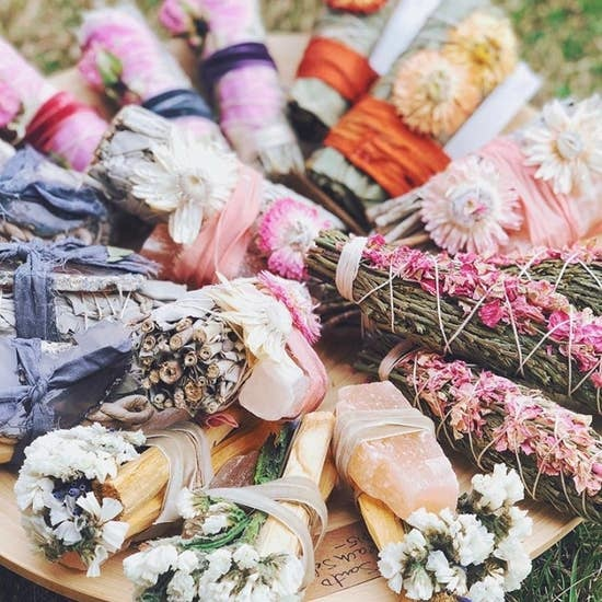 Cedar + Pink Larkspur Flowers Smudge-2