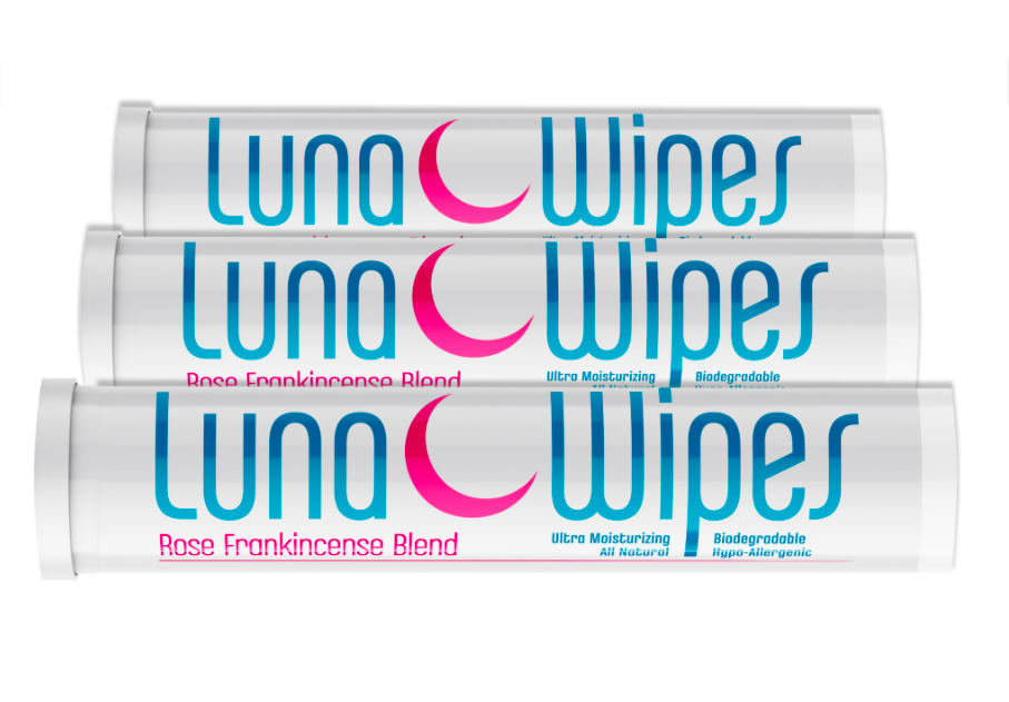 Luna Wipe | Travel Tube | Frankincense & Rose-1
