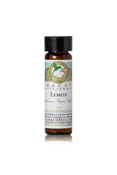 3217 - Lemon Essential Oil - Organic - Citrus limonum - 1/2oz - Floracopeia