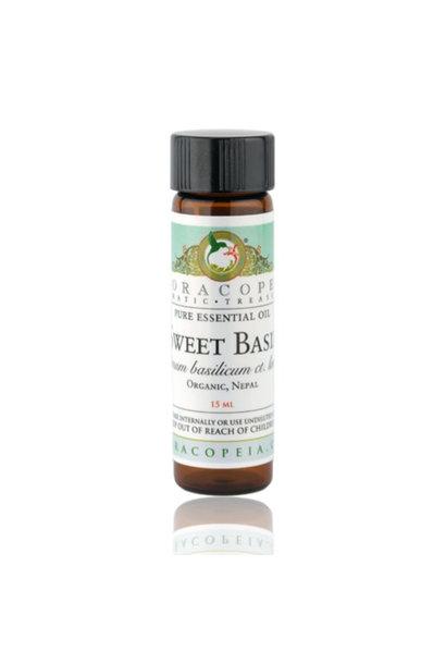 3508 - Sweet Basil Essential Oil - Organic - 1/2oz - Floracopeia