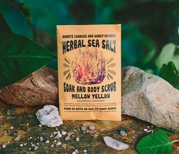 Herbal Salt Soak Scrub   Mellow Yellow-2
