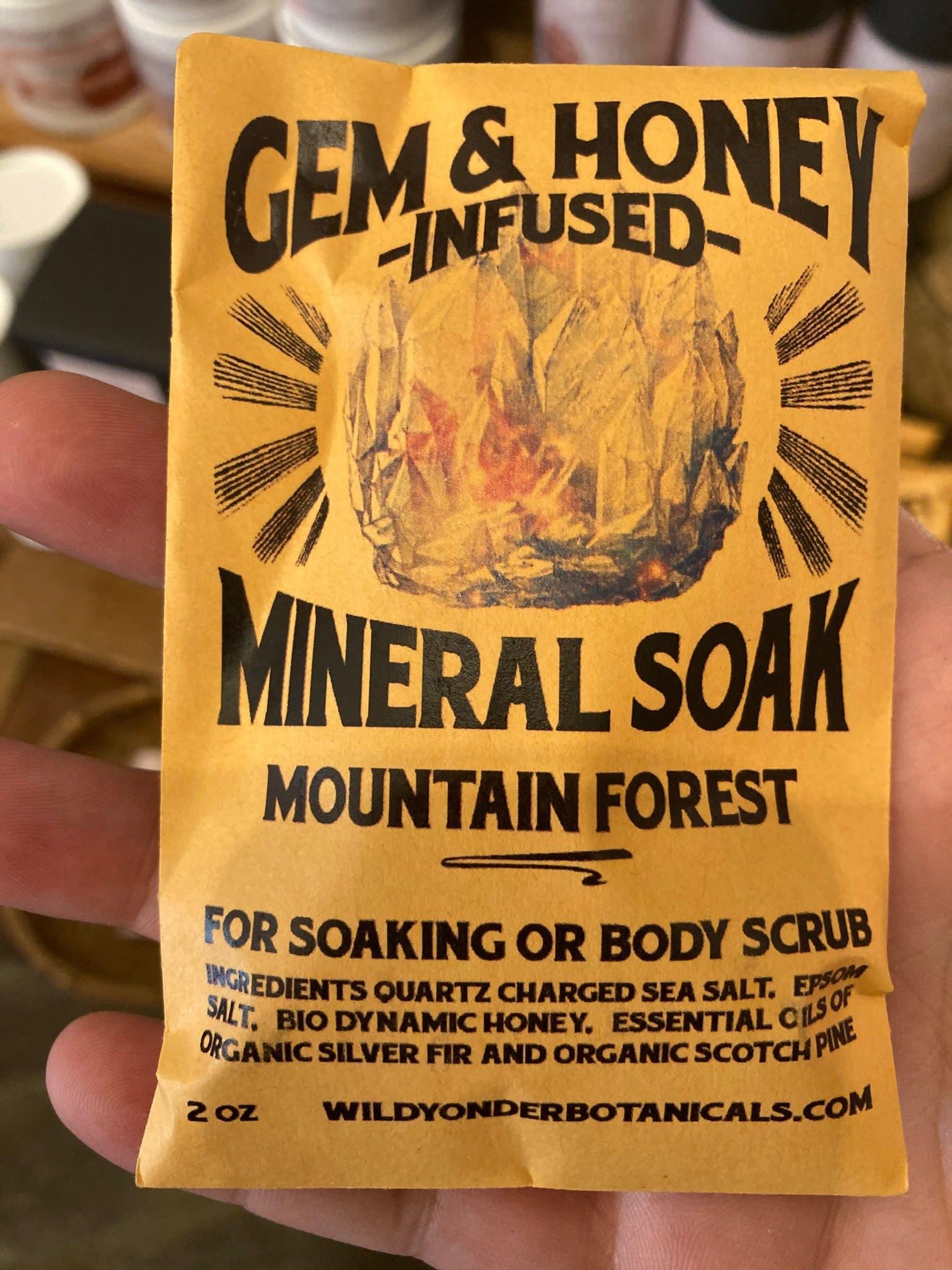 Gem & Honey Infused Bath Salts | Mountain Forest-2