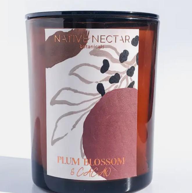 Plum Blossom & Cacao   Hand Poured Candle-2