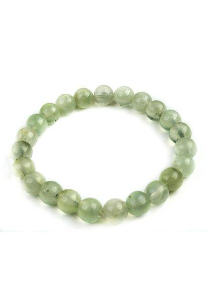 Tumbled Stone Bracelet | Prehnite | 8mm