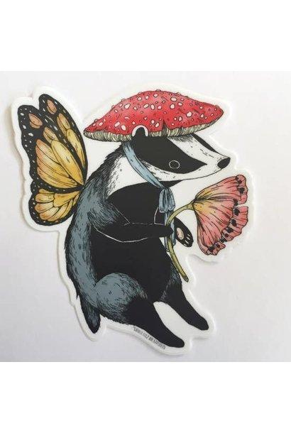 Badger Fairy | Matte Vinyl Sticker