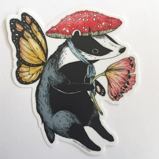 Badger Fairy | Matte Vinyl Sticker-1