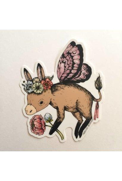Donkey Fairy | Matte Vinyl Sticker