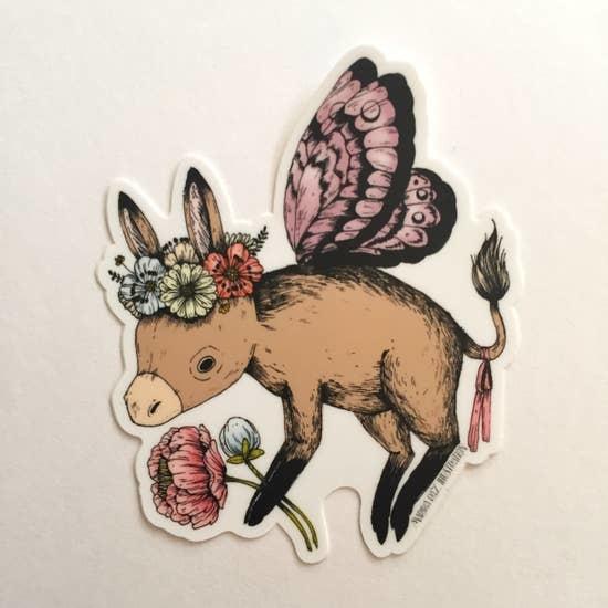 Donkey Fairy | Matte Vinyl Sticker-1