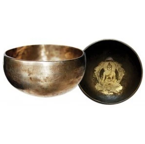 Singing Bowl   Hand Beaten & Hand Carved-1