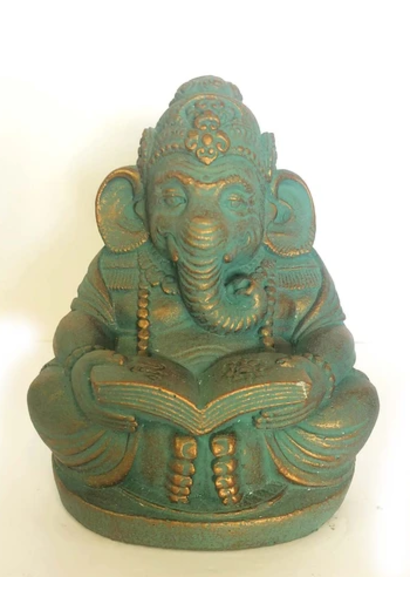 Stone Statue | Ganesh Reading