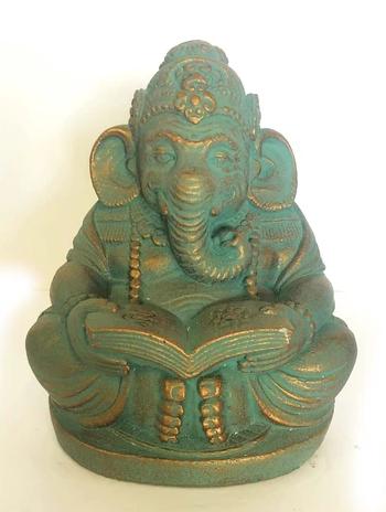 Stone Statue   Ganesh Reading-1