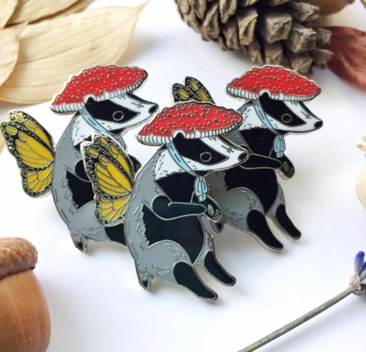 Badger Fairy   Enamel Pin-2