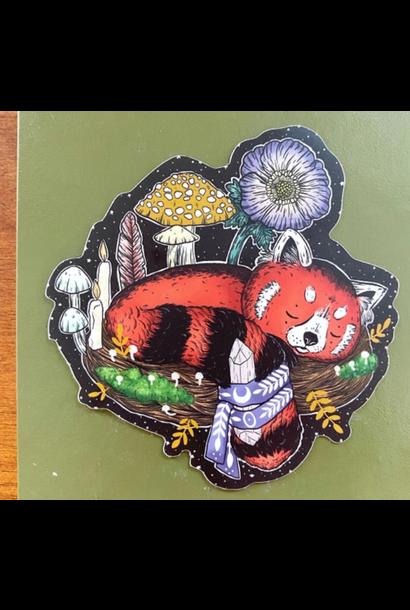Magical Red Panda | Glossy Vinyl Sticker