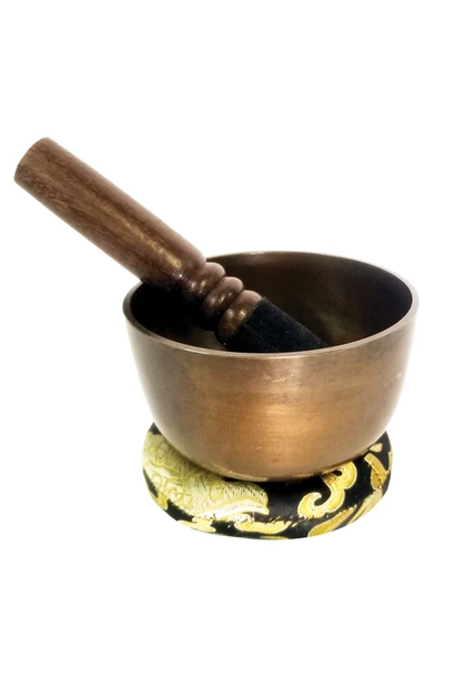 Brass Singing Bowl | Antique Finish