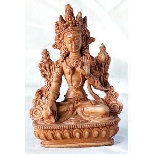 Resin Statue | Sitting Goddess White Tara Statue-1