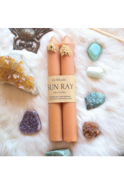 Sun Ray | Beeswax Altar Candles