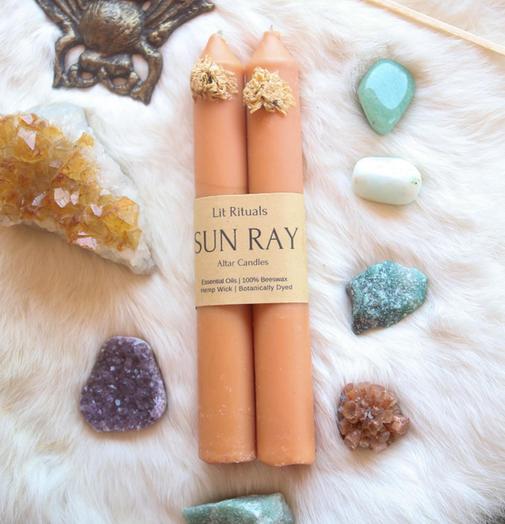 Sun Ray | Beeswax Altar Candles-1