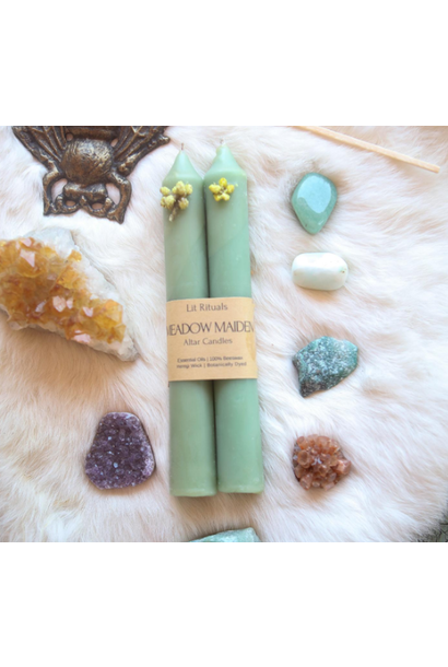 Meadow Maiden | Beeswax Altar Candles