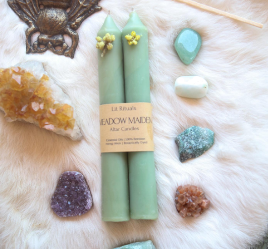 Meadow Maiden | Beeswax Altar Candles-1