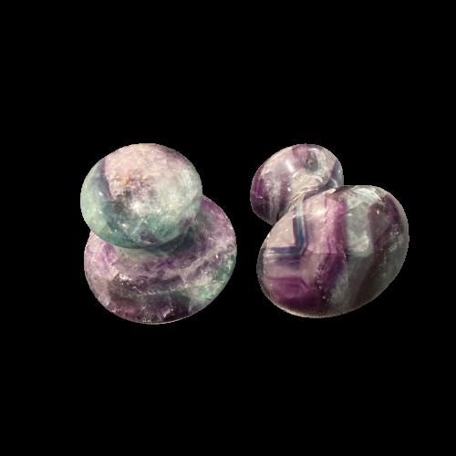 Mushroom Gua Sha Massager | Rainbow Fluorite-1