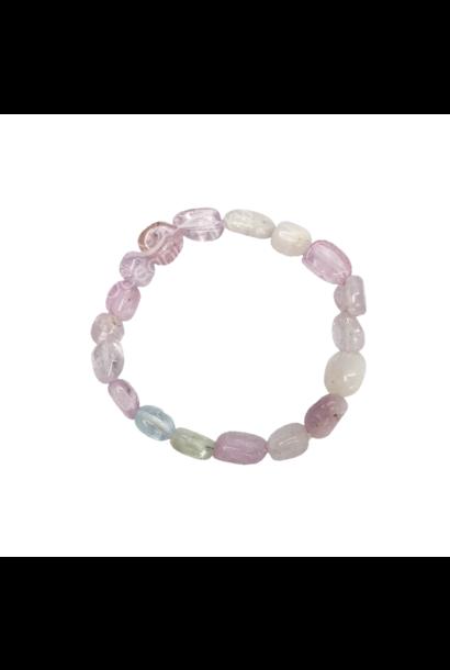 Tumbled Stone Bracelet | Kunzite | 6-8mm