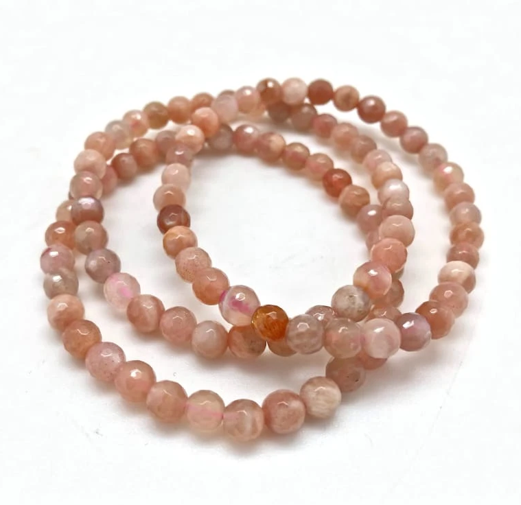 Tumbled Stone Bracelet | Sunstone | 5-6mm-1
