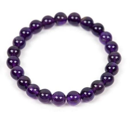 Tumbled Stone Bracelet | Amethyst | 8mm-1