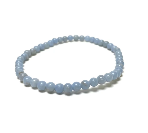 Tumbled Stone Bracelet | Angelite | 4mm-1
