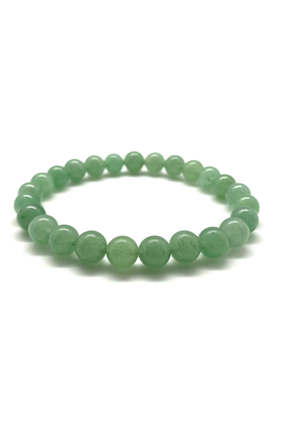 Tumbled Stone Bracelet | Green Aventurine | 8mm