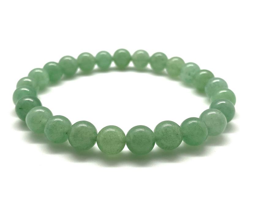 Tumbled Stone Bracelet | Green Aventurine | 8mm-1