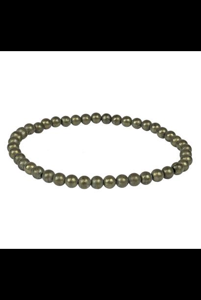 Tumbled Stone Bracelet | Pyrite | 4mm