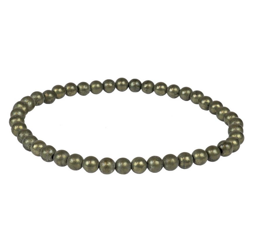 Tumbled Stone Bracelet | Pyrite | 4mm-1