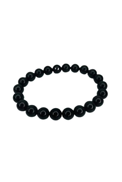 Tumbled Stone Bracelet | Black Tourmaline | 8mm