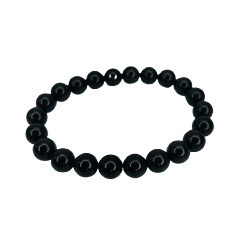 Tumbled Stone Bracelet | Black Tourmaline | 8mm-1